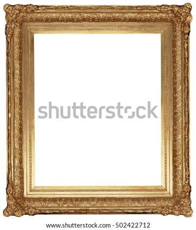 Free photos Antique Classic Golden Frame isolated on white ...