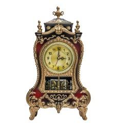 Antique clock on white background