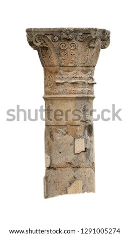 Antique column, isolated background #1291005274