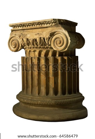 antique column isolated on a white background