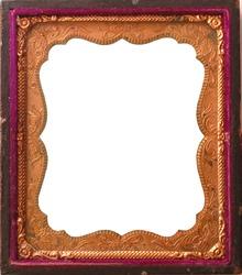 Antique copper tintype frame