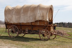 Antique covered wagon, chuck wagon
