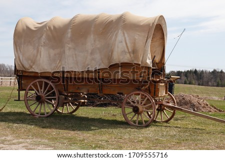 Photo of  Antique covered wagon, chuck wagon