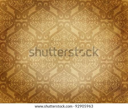 antique damask floral background