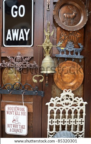 antique decoration , Italian style , souvenirs of travelers - stock photo