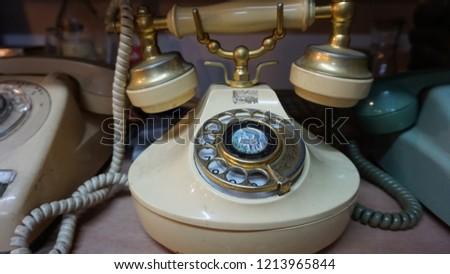 Antique Dial Telephone #1213965844