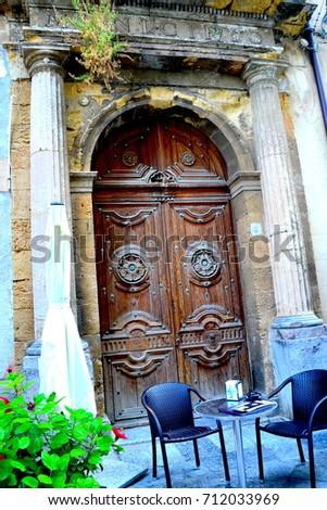 Antique door #712033969