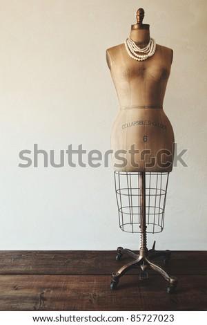 Antique dress form with vintage feel