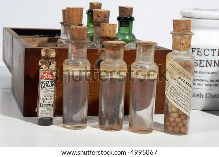 antique drugstore bottles