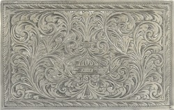 Antique engraved silver, may be used as decoration