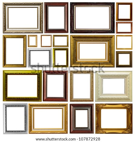 Antique frame isolated on white background #107872928