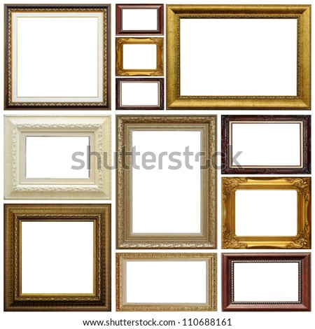 Antique frame isolated on white background #110688161