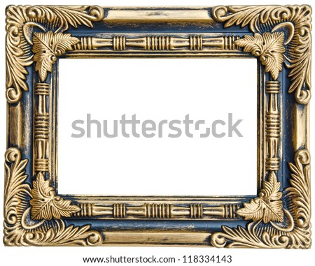Antique frame isolated on white background with clipping path