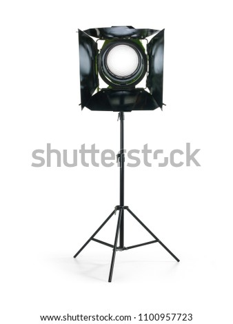 Antique fresnel studio on tripod #1100957723