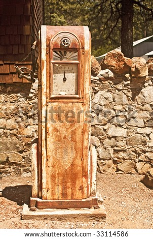 Antique Gas Pump At Empire Mine History Park In Grass Valley ...