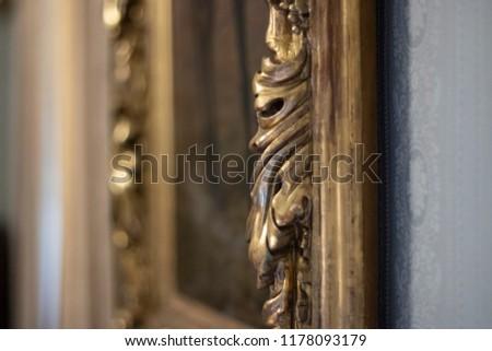 Antique gold frame detail #1178093179
