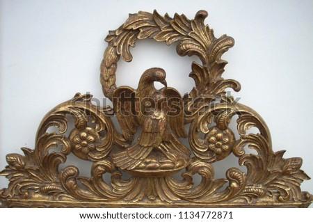 antique gold lovebirds #1134772871