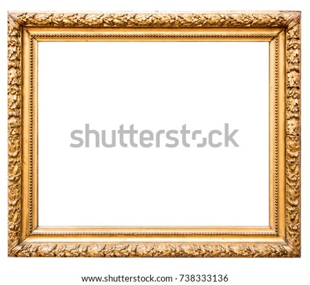 Antique Gold Picture Frame #738333136
