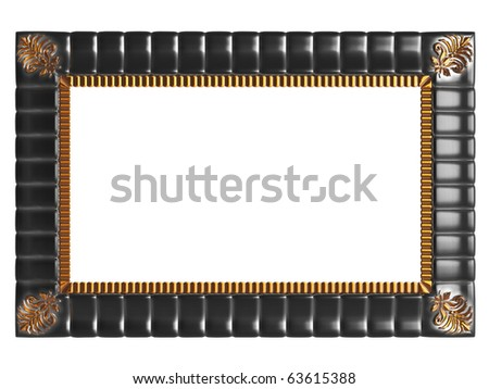 antique gold  picture frame isolated on white, similar frames available in my portfolio