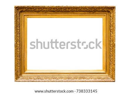 Antique Gold Picture Frame XXXL #738333145