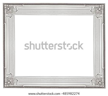 Royalty-free White baroque frame. Horizontal white… #96444314 Stock ...