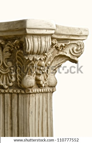 Antique Greek Column, on a white background