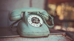 Antique grunge telephone