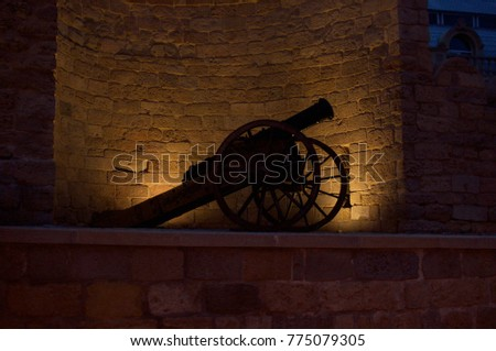 antique gun in the antique fortress #775079305