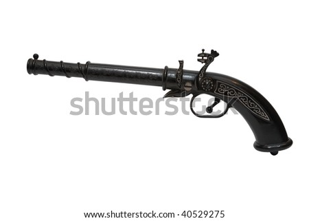 Antique gun isolated on white