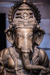 Antique Holy Elephant Sculpture Statue