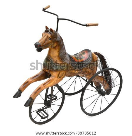 Antique Horse Tricycle Bike