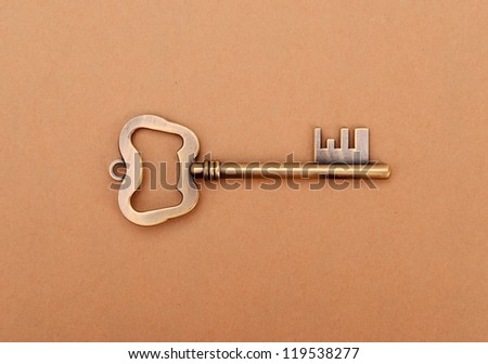 antique keys on wooden table