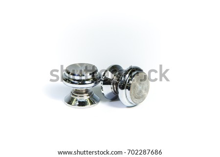 Antique knob on a white background,isolated.
