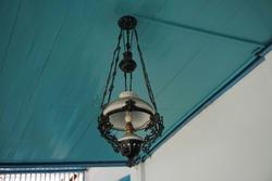Antique lamp. Surakarta, Indonesia. April 12, 2019