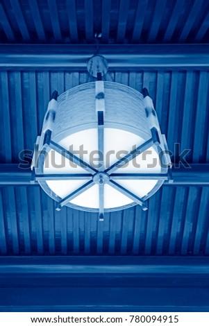 Antique lampshade, closeup of photo #780094915