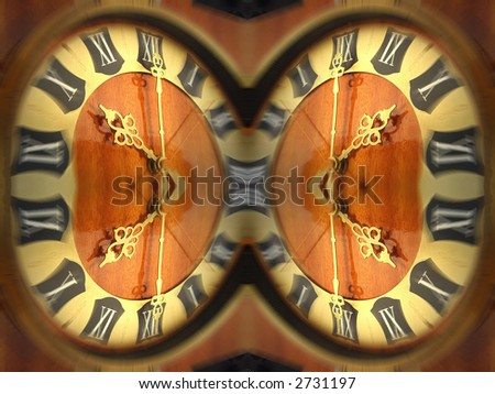 Antique looking clock face-passing time