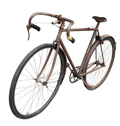 Antique Man's Bike isolated with clipping path