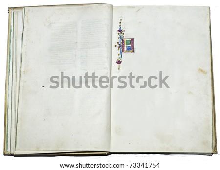 Antique manuscript letter