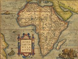Antique Map of Africa   by Abraham Ortelius, circa 1570