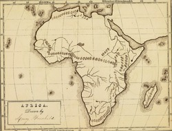 Antique map of Africa.From Atlas by Fitch & Fairchild, 1850