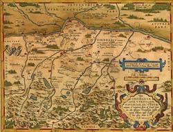 Antique Map of Bavaria, Germany  by Abraham Ortelius, circa 1570