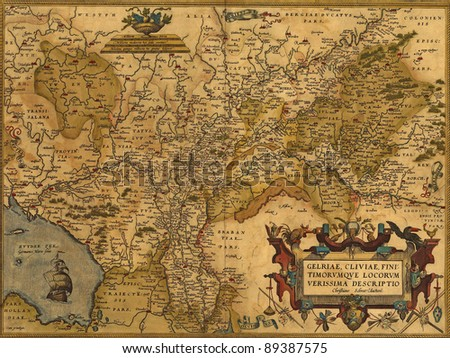 antique map of germany and the...