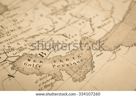 Free photos Antique world map. Persian Gulf and Strait of Hormuz ...