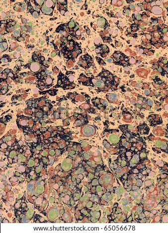 stock photo : Antique Marbled Paper Background