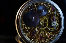 antique mechanical pocket watch, winter time and summer time concept