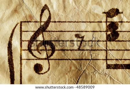 Antique music sheet