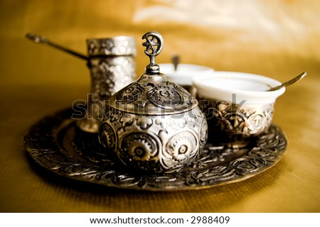 Antique muslim set for Turkish coffee