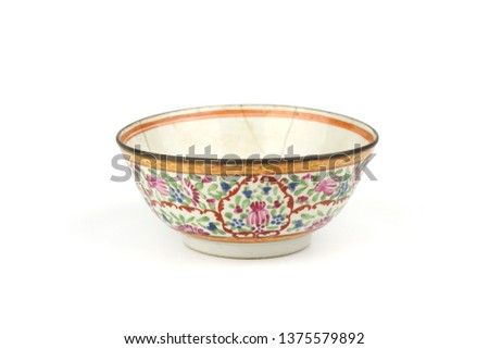 Antique Objects on white background. #1375579892