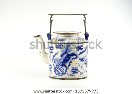 Antique Objects on white background. #1375579973