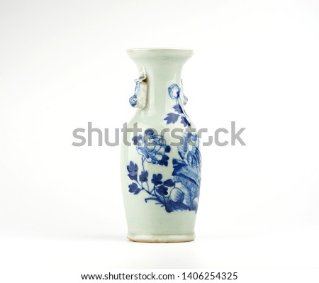 Antique Objects on white background.